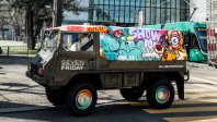 Graffiti Swiss Army Pinzgauer