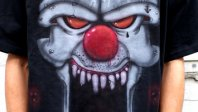 Evil Clown Airbrush Shirt