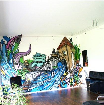 graffiti wand-kaufen billiggraffiti wand partien aus china, Hause deko